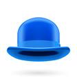 Blue bowler hat vector image vector image