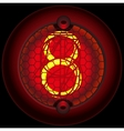 Digit 8 eight Nixie tube indicator vector image vector image