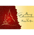 Abstract Christmas Greeting vector image vector image