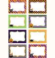 Halloween Printable labels Set vector image
