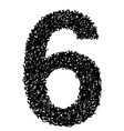 alphabet 6 vector image