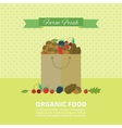 Banner with nuts and berries vector image