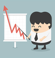 Businessman with business growing graph vector image