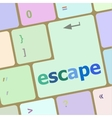 Computer keyboard key with escape word vector image
