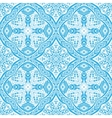 damask blue seamless tiled pattern vector image