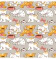 funny cartoon kitten vector image