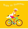 Girl On Bike Text vector image