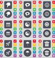 Hand Chat bubble Compass Calendar Yin-Yang Power vector image