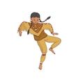 native american dancing indian girl in vector image