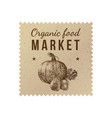 organic food market label vector image