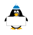 penguin empty board vector image