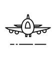 planeairoportfast delivery line icon vector image