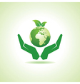 Save earth or go green concept vector image