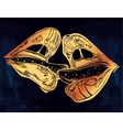 Sexy couple lips kissing vector image