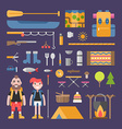 Travel and Tourism Male and Female Cartoon vector image