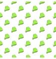 South Korea green map pattern cartoon style vector image