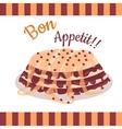Bon Appetit Festive Cake Web Banner Chocolate vector image vector image