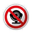 web camera with denied sign vector image