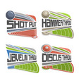 athletics fields vector image