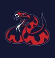 viper snake mascot vector image