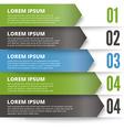 Green and dark modern Design template vector image