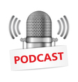 Podcast vector image