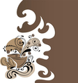 Background with coffe cups vector image