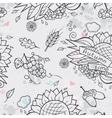 Contour seamless texture autumn theme vector image