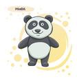 drawn cartoon panda vector image