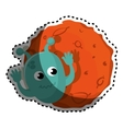 Planet of the solar system with martian vector image