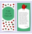 Stock cards template for children s birthday party vector image