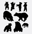 Bear wild animal silhouette vector image