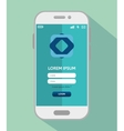 mobile design loggin app vector image