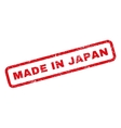 Made In Japan Rubber Stamp vector image