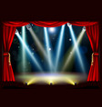 spotlight theatre stage vector image