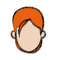 female character head woman avatar image vector image