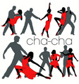 chacha dancers set vector image