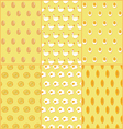 Seamless Pattern of Chicken and Egg Dishes vector image