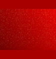 christmas red background with golden dots vector image