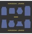Mason jars silhouette icons set Design suitable vector image