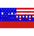 modern usa and russia flag background vector image