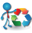 People with a recycling symbol vector image