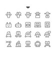 robots pixel perfect well-crafted thin line vector image