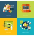 Set of flat design concept icons for entertainment vector image