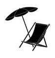 sun chair isolated vector image