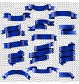 blue web ribbons set vector image vector image