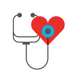 stethoscope shaped heart health symbol vector image