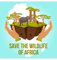 Save the wildlife of Africa concept vector image