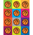 Basketball Colorful Pattern vector image vector image