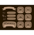 Butcher shop logotypes and farm animals vector image